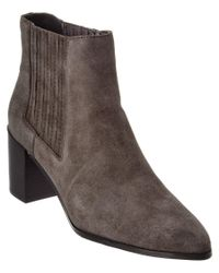 Charles by Charles David | Gray Unity Suede Ankle Bootie | Lyst