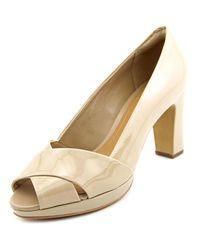 Clarks | Natural Jenness Cloud Women Peep-toe Patent Leather Heels | Lyst