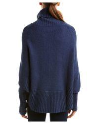 Portolano - Blue Wool-blend Poncho - Lyst