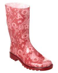 Ferragamo | Red Farabel Rain Boot | Lyst