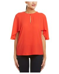 Trina Turk   Red Alee Blouse   Lyst