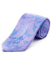 Ike Behar - Purple & Pink Floral Silk Tie for Men - Lyst