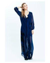 Karen Zambos | Blue Floral Jenson Maxi Dress | Lyst