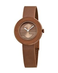 Gucci - Brown Women's U-play 29mm Watch - Lyst