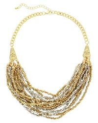 Sparkling Sage - Metallic 14k Plated & Plated Multi-strand Beaded Necklace - Lyst