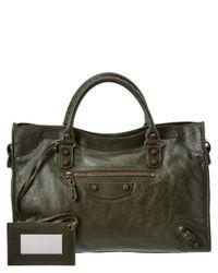 Lyst - Balenciaga Giant 12 Classic City Medium Leather Shoulder Bag ... c3b90b8a9f933