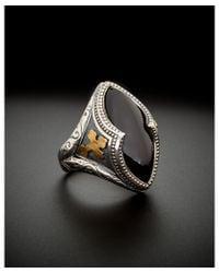Scott Kay | Metallic 24k Foil & Silver Black Spinel Men's Ring for Men | Lyst