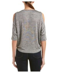 Michael Stars - Gray Cold-shoulder Top - Lyst