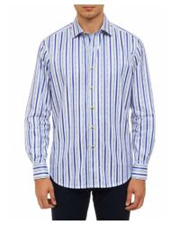 Robert Graham | Blue Arched Rock Classic Fit Woven Shirt for Men | Lyst