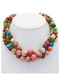 Devon Leigh | Multicolor 14k Plated Agate Twist Necklace | Lyst