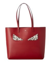 Fendi | Red Bag Bugs Leather Roll Bag | Lyst