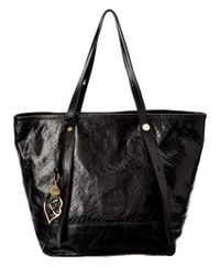 See By Chloé | Black Bisou Small Embossed Glazed Leather Tote | Lyst