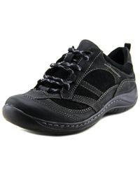 Earth | Black Redroot Women Round Toe Leather Walking Shoe | Lyst