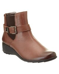 Mephisto | Brown Stefania Leather Bootie | Lyst