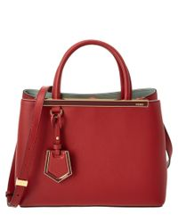 Fendi | Red Petite 2jours Leather Tote | Lyst