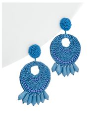 Kenneth Jay Lane | Blue Gold-electroplated Resin Drop Earrings | Lyst