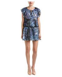 Parker | Blue Smocked Waist Shift Dress | Lyst