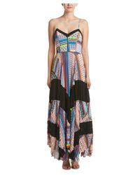 Parker | Blue Skye Combo Silk Maxi Dress | Lyst