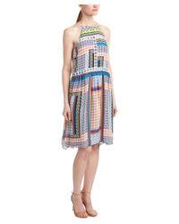 Parker | Orange Tamar Silk Midi Dress | Lyst