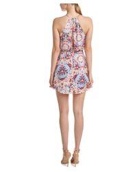 Parker | Pink Kennedy Silk Halter Dress | Lyst