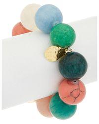 Devon Leigh | Multicolor 18k Plated Gemstone Stretch Bracelet | Lyst