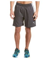 PUMA | Gray Reps Woven 2-in-1 Short for Men | Lyst