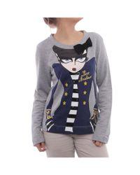 Love Moschino | Gray Long Sleeve Scoop Neck Sweater Women Regular Sweater | Lyst