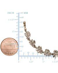 JewelryAffairs - Metallic Sterling Silver Greek Olive Leafs Bracelet, 7.5 - Lyst