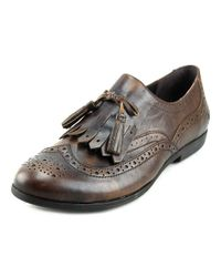 Born - Minetta Women Round Toe Leather Brown Oxford for Men - Lyst