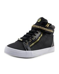 G by Guess | Okelly 2 Women Round Toe Canvas Black Sneakers | Lyst