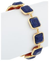 Noir Jewelry | Metallic 14k Plated Sandstone Double-sided Link Bracelet | Lyst