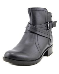 Rockport | Black Caroline Round Toe Leather Ankle Boot | Lyst