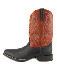 Ariat - Sport Herdsman Men Square Toe Leather Brown Western Boot for Men - Lyst