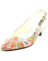 Anne Klein | Multicolor Expert Women Pointed Toe Leather Multi Color Slingback Heel | Lyst