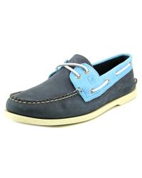 Sperry Top-Sider   Sperry Top Sider A/o 2-eye Dual Tone Boat Shoes Men Blue Boat Shoe for Men   Lyst