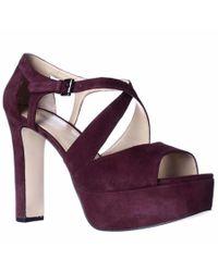 Michael Kors | Purple Michael Micheal Kors Harlen Platform Strappy Dress Sandals | Lyst