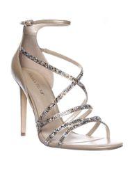 Ivanka Trump | Metallic Hyde Ankle Strap Dress Sandals | Lyst