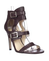 Ivanka Trump   Donalu Ankle Cuff Dress Sandals - Dark Red   Lyst