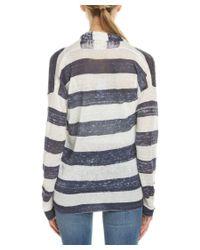 Splendid   Multicolor Striped Linen Cardigan   Lyst