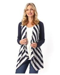 Patchington | Blue L/s Stripe Cardigan | Lyst