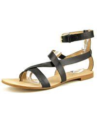 Splendid | Black Crete Open Toe Leather Gladiator Sandal | Lyst