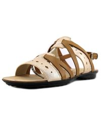 Tod's | Multicolor Sandale Flat Fondo Gomma Forature Open-toe Leather Slingback Sandal | Lyst
