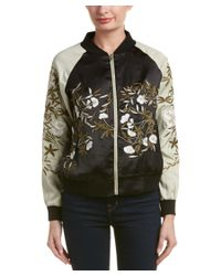 Fate | Green Embroidered Bomber Jacket | Lyst