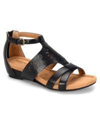 Söfft   Black Comfortiva Saco Leather Sandal   Lyst