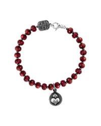 King Baby Studio - Red Heart Silver Ruby Bracelet - Lyst