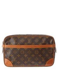 Louis Vuitton | Brown Monogram Canvas Compiegne 28 Pouch | Lyst