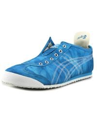 Asics | Blue Mexico 66 Slip-on Round Toe Canvas Sneakers | Lyst
