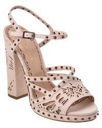Marchesa | Multicolor Amber Suede Sandal | Lyst