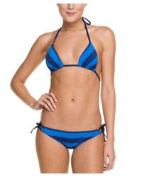Splendid | Marcel Navy & Blue Stripe Tie Bottom | Lyst