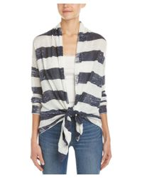 Splendid - Multicolor Striped Linen Cardigan - Lyst